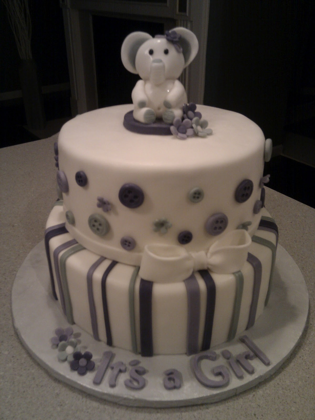 cakes by nancy baby shower cake with elephant topper
