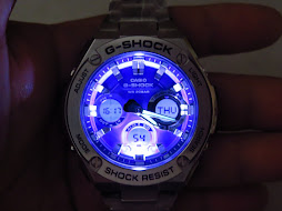 CASIO G-SHOCK GST-S110D-2ADR- ANALOG DIGITAL BLUE DIAL - BRAND NEW