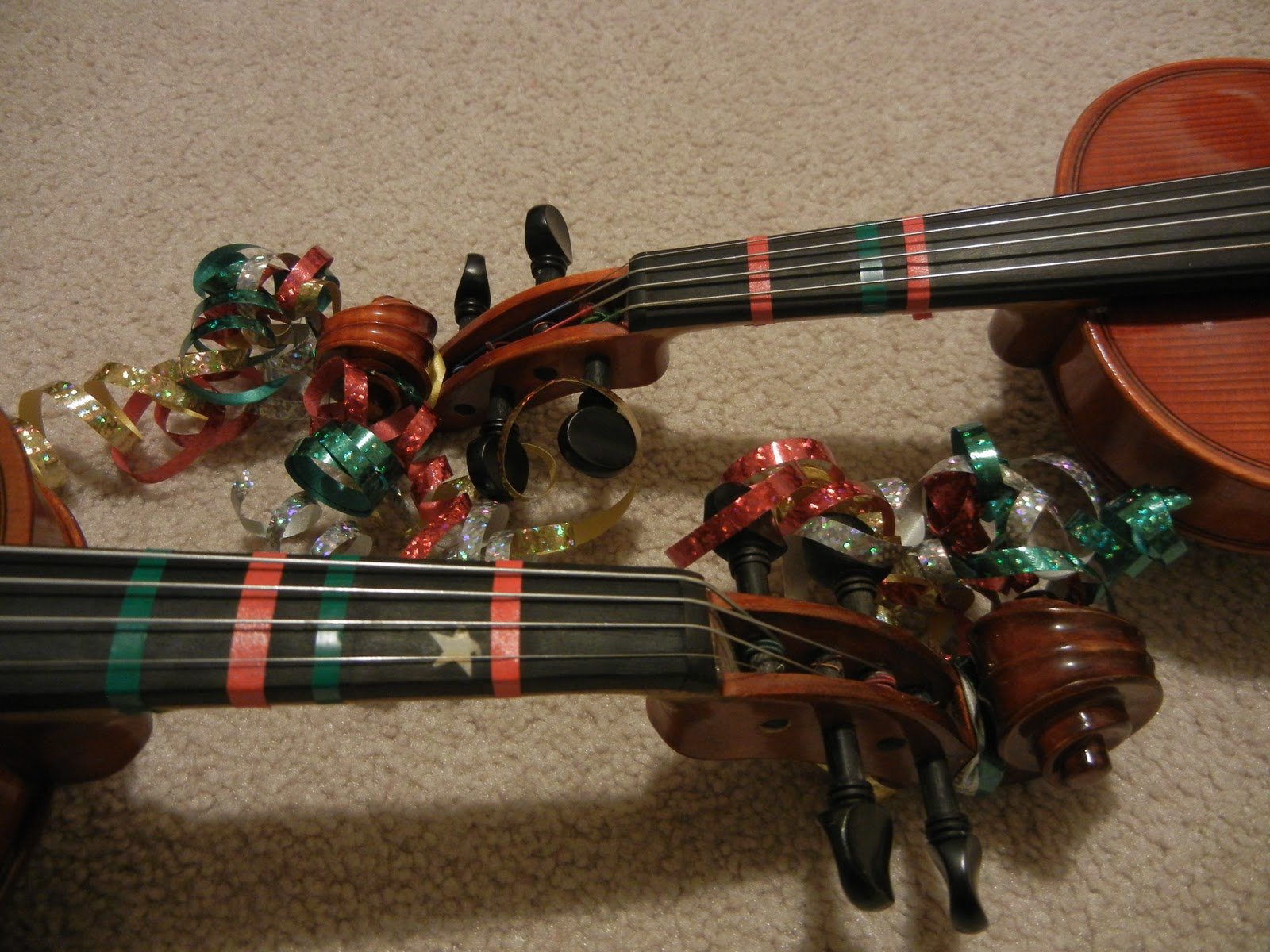 Image result for christmas decorated violin