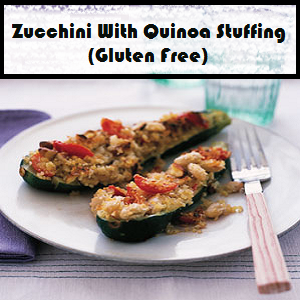 Zucchini with Quinoa Stuffing Recipe