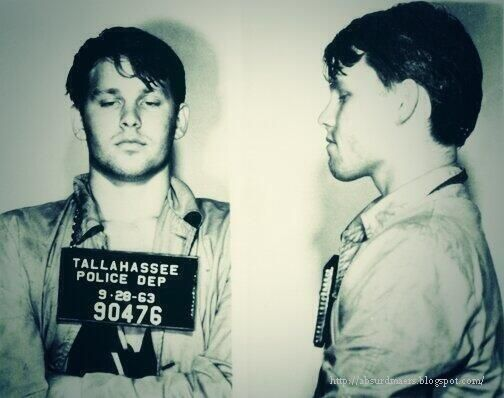 In 1963, Jim Morrison was arrested for petty larceny, disturbing the peace, resisting arrest and public drunkenness