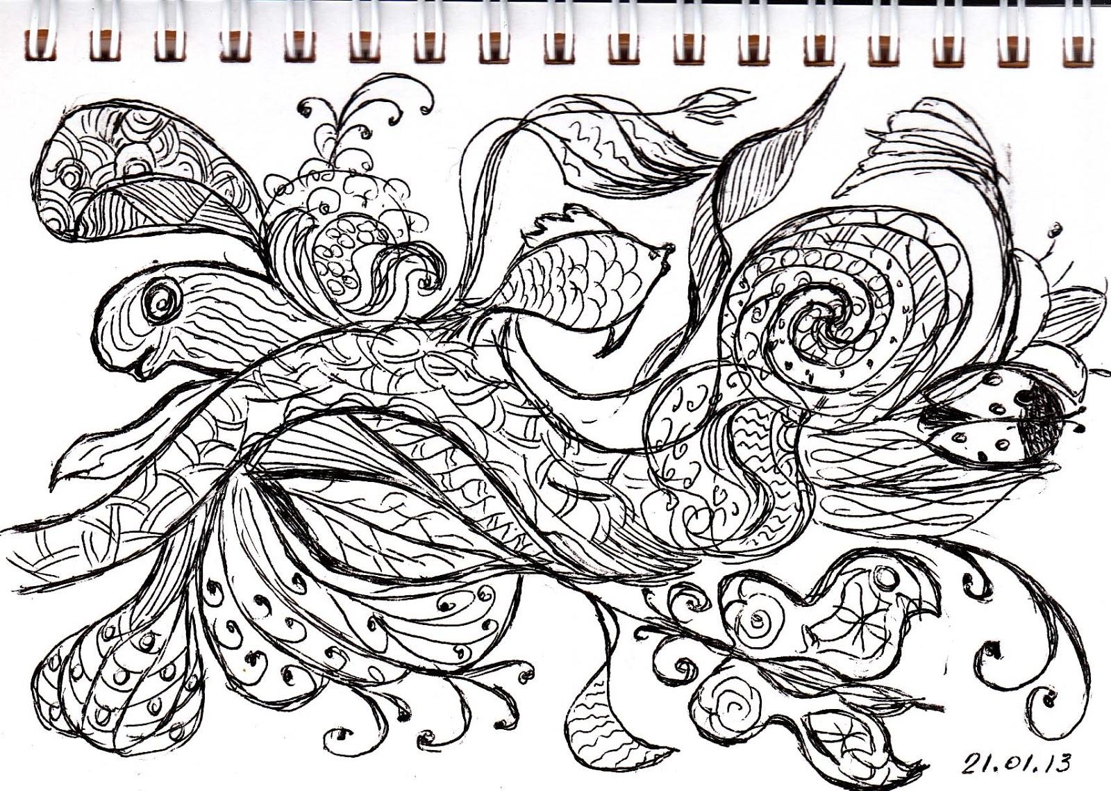 графика ручкой: