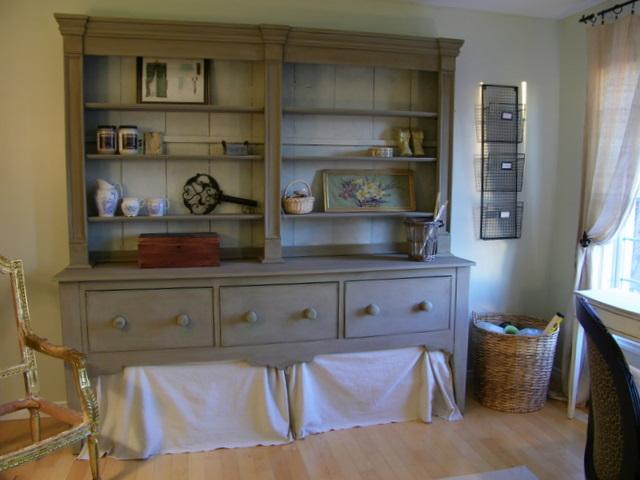Maison Decor Workrm Pt2 Farmhouse Hutch And Cottage Desk