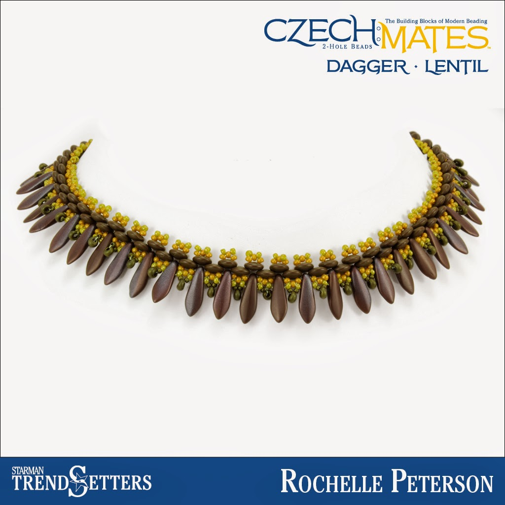 CzechMates Dagger/Lentil necklace by Starman TrendSetter Rochelle Peterson