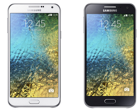 Samsung Galaxy E7 and Galaxy E5 smartphones