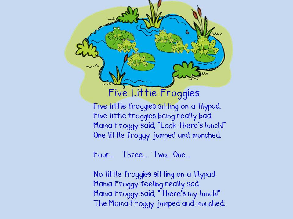images for 5 frogs song gospel
