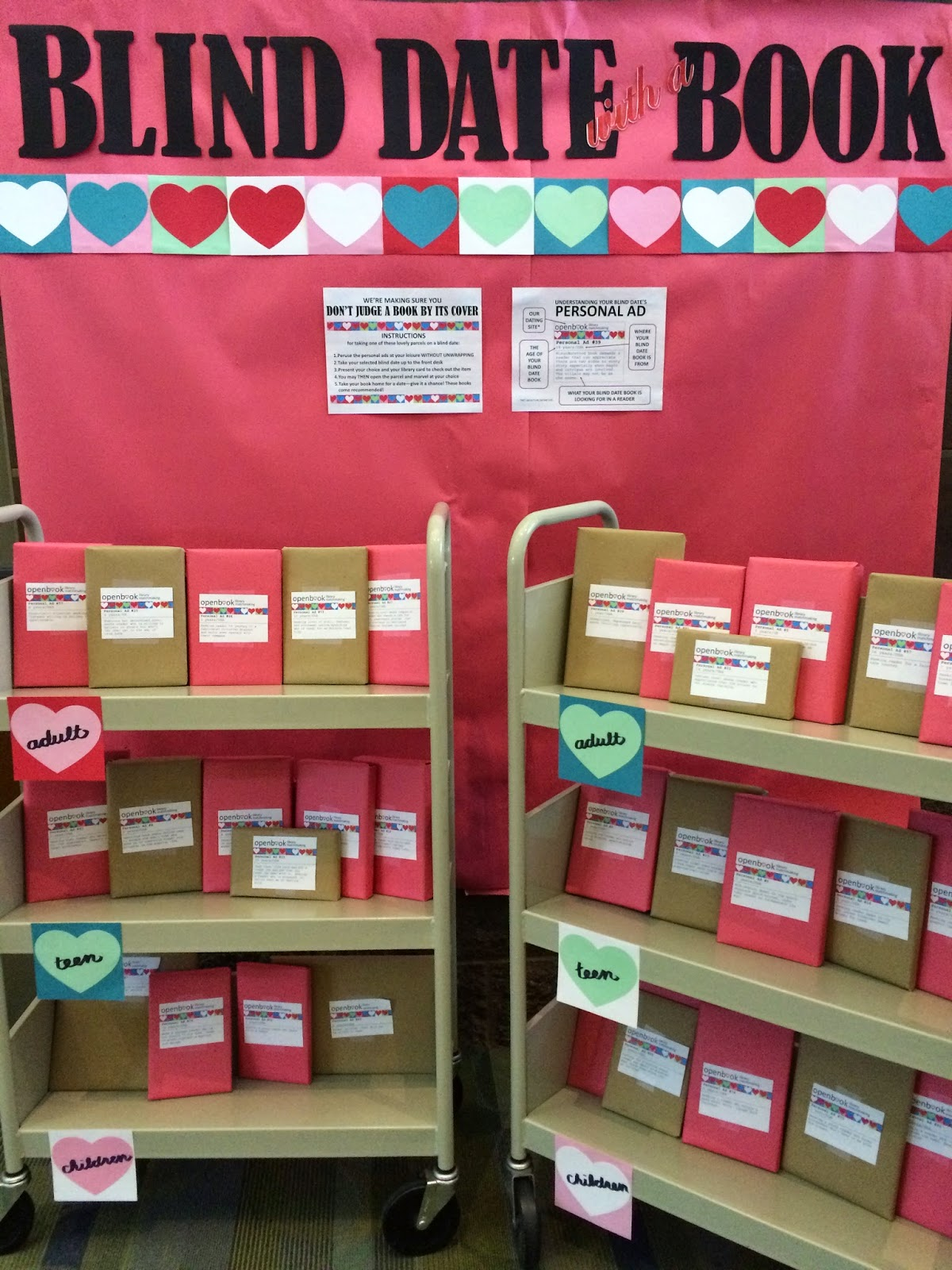 Christmas Ideas For School Libraries : Literary hoots library display blind date with a book