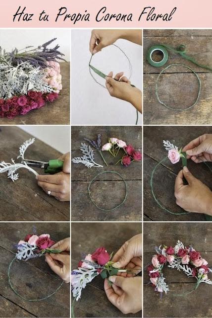 DIY. Una Corona Floral Muy Fácil de Hacer.