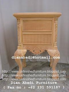 furniture klasik nakas klasik chippendale furniture supplier mebel klasik ukir nakas ukir mahoni unfinished nakas bedside mentah