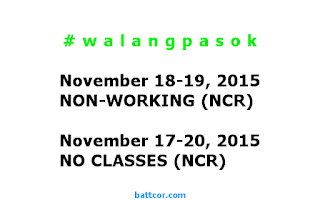 November 18-19 Non-Working Days in Philippines Due to APEC