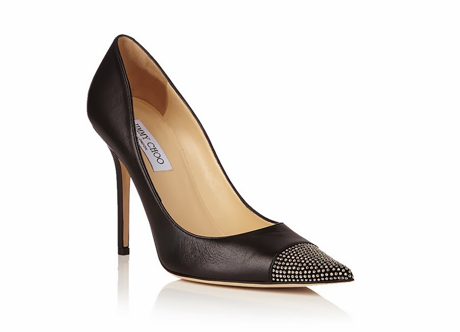 Jimmy Choo Amika Black Leather Heels