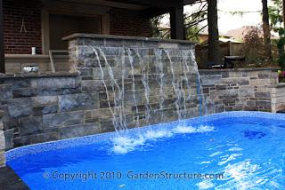 Cascata para piscina deixando a mais bonita