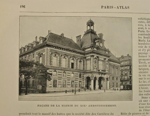 Bournon Paris Atlas 19e Larousse mairie
