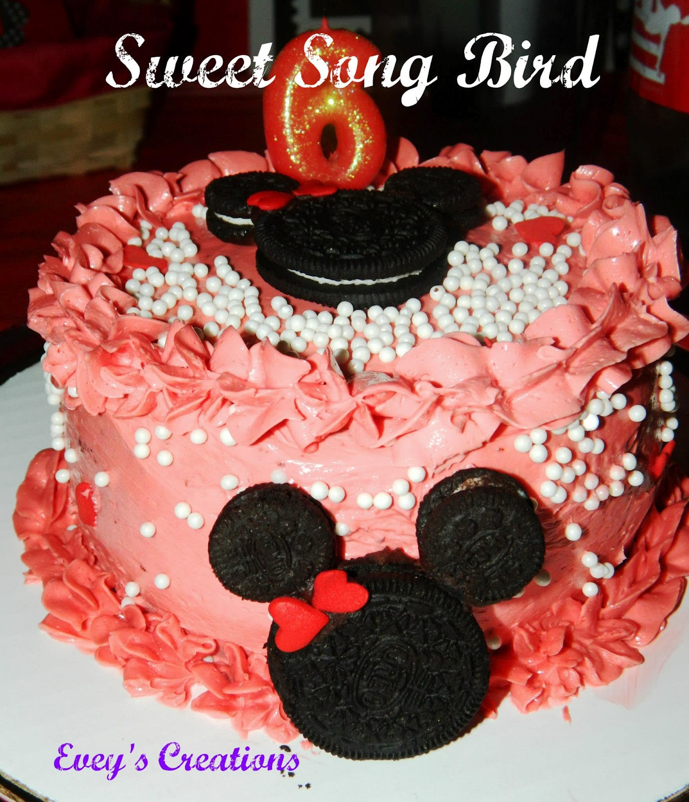 Eveys Creations Minni Mouse Cake Topper Tutorial