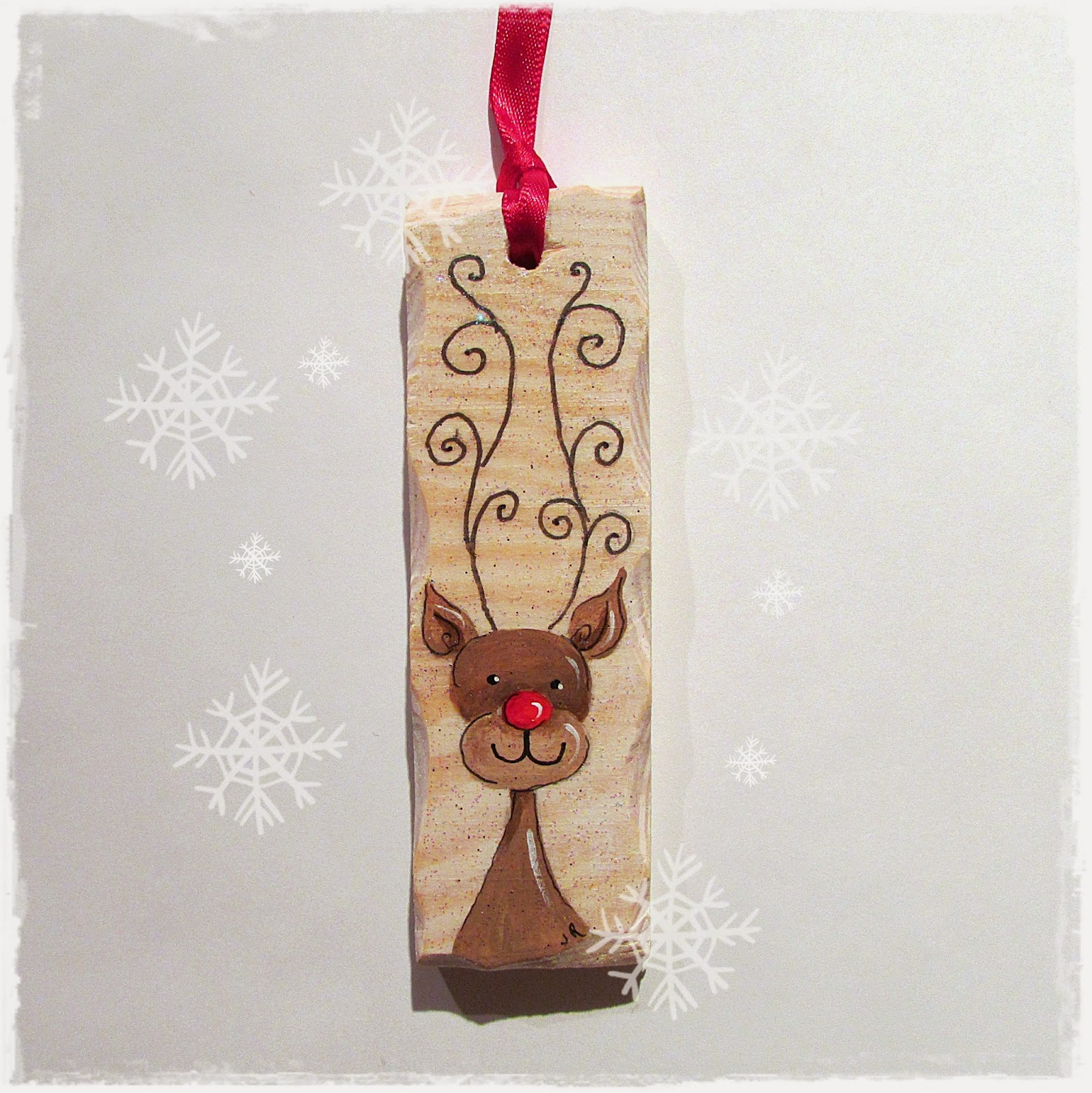 Handcrafted by picto rudolph the red nosed reindeer for Christmas reindeer decorations