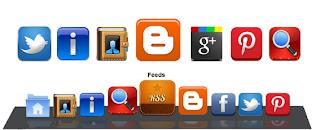 Blogger Sayfa Altında Sabit Duran Sosyal Paylaşım Butonları