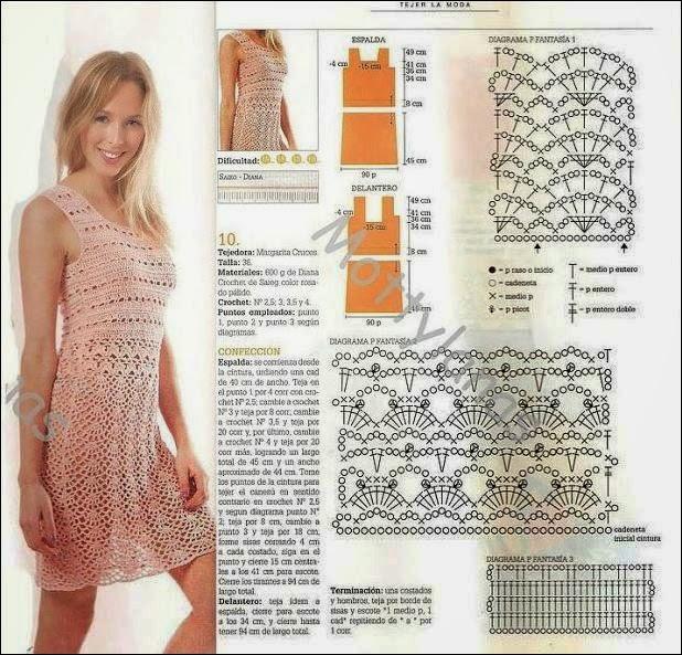 Vestido dama crochet de verano