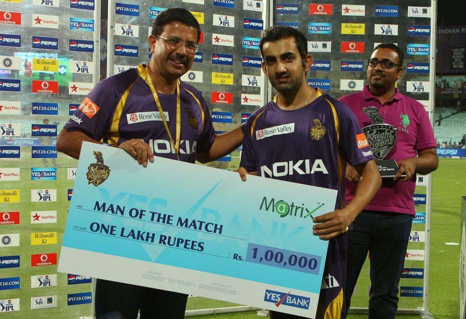 Gautam-Gambhir-man-of-the-match-KKR-vs-SRH-IPL-2013
