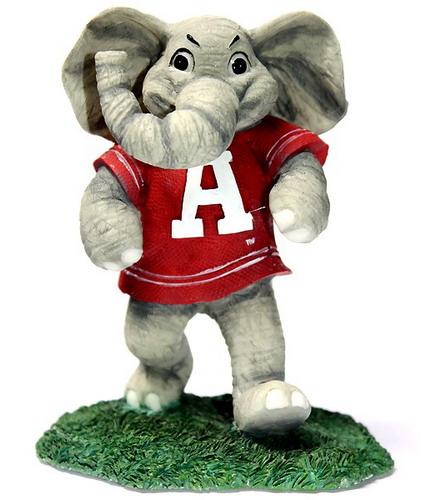 Big Al official mascot of the University of Alabama Crimson Tide in Tuscaloosa, Alabama.