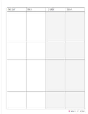310 x 400 png 5kB, Weekly Calendar Monday Through Friday Yearly ...