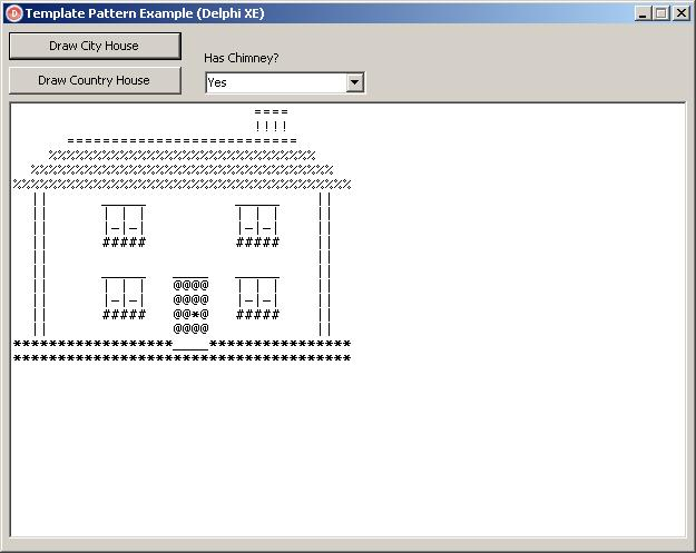 Template Pattern Example (Delphi) – City House