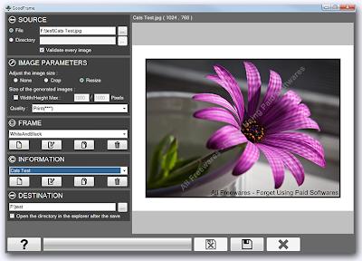 GoodFrame , freewares, windows softwares, image enhancing software, photo enhancer  , photo enhancing softwares , image editing software,