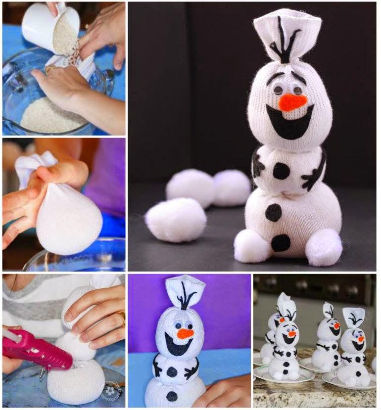 Как можно сделать снеговика своими руками видео