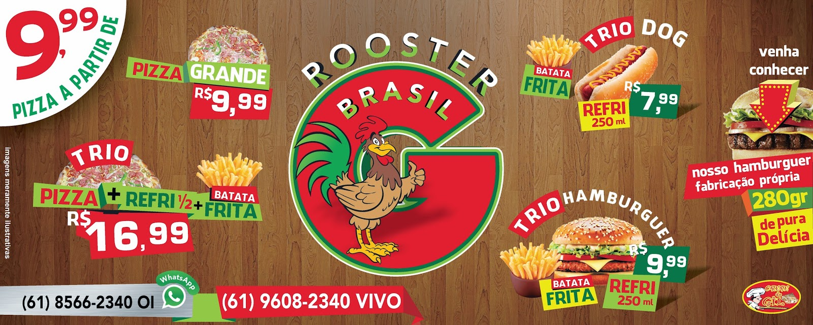FAIXA ROOSTER BRASIL - CREPE DO GIL - POR CDTARSO
