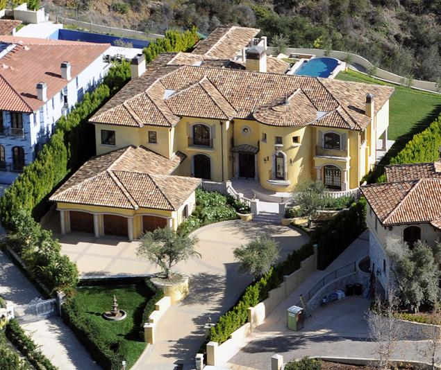 Picture of new mansion as seen from the air