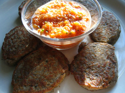 Nigerian Black-Eyed Pea Patties with Pilipili Sauce