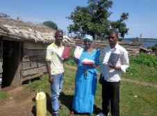 Recipients of Bibles in Uganda