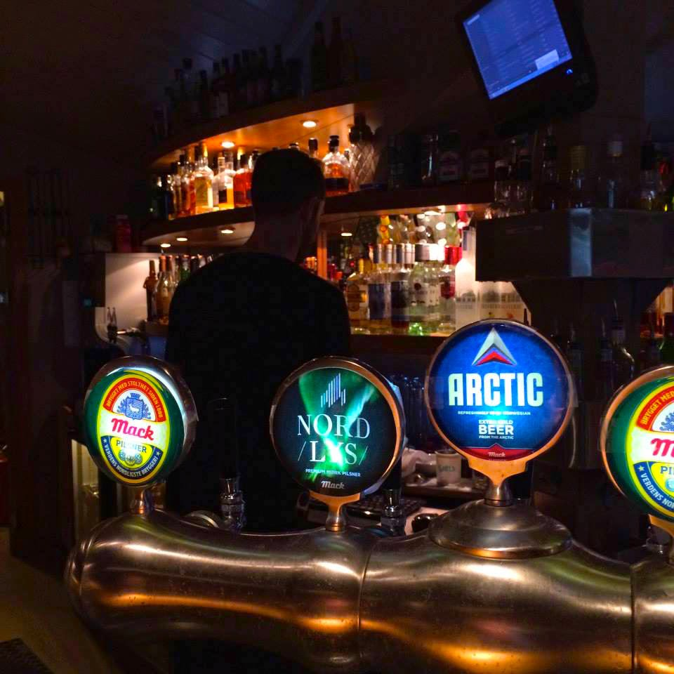 Arctic beer and beertaps in Longyearbyen, Svalbard. Barentz Pub and Spiseri,