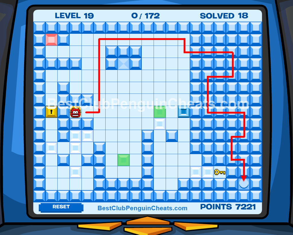 Club Penguin Thin Ice Cheats Level 19