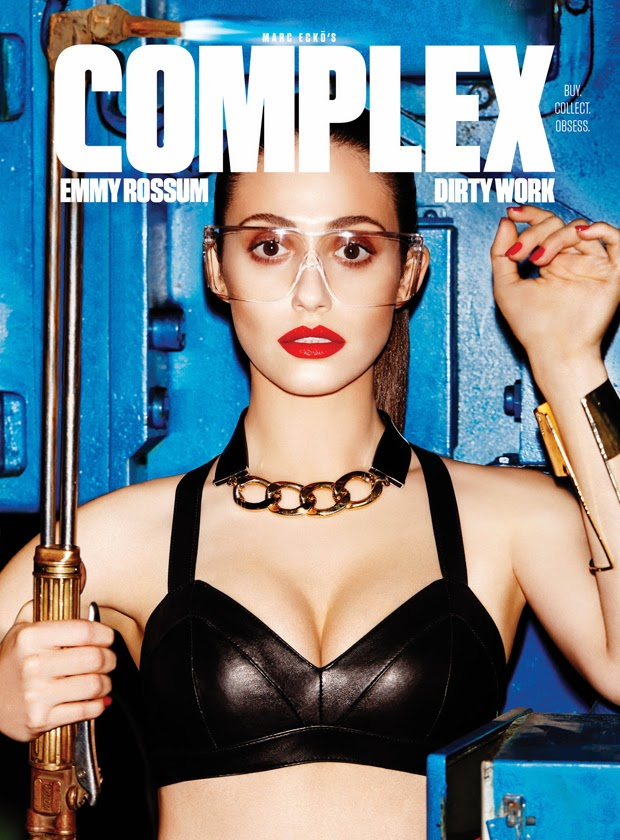 Magazine Photoshoot : Emmy Rossum Photoshot For Complex Magazine UK February/March 2014 Issue