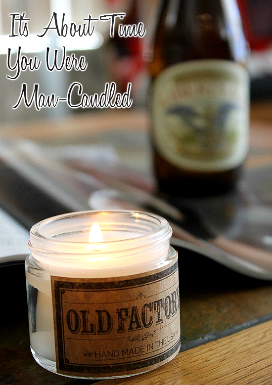 #OldFactory Candle gifts online through Amazon Prime- Man Cave: Mahogany, Leather, and Straight Razor