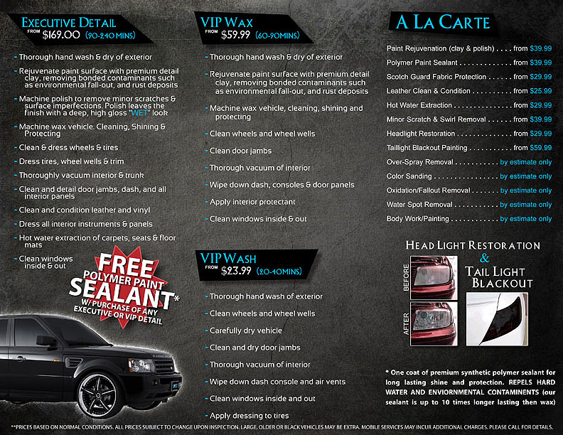 Brochure Auto Detailing – Auto Detailing Flyer Template