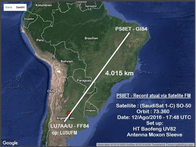 My Record via Satellite...