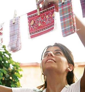 Decoração de festa junina - bandeirinhas recicláveis