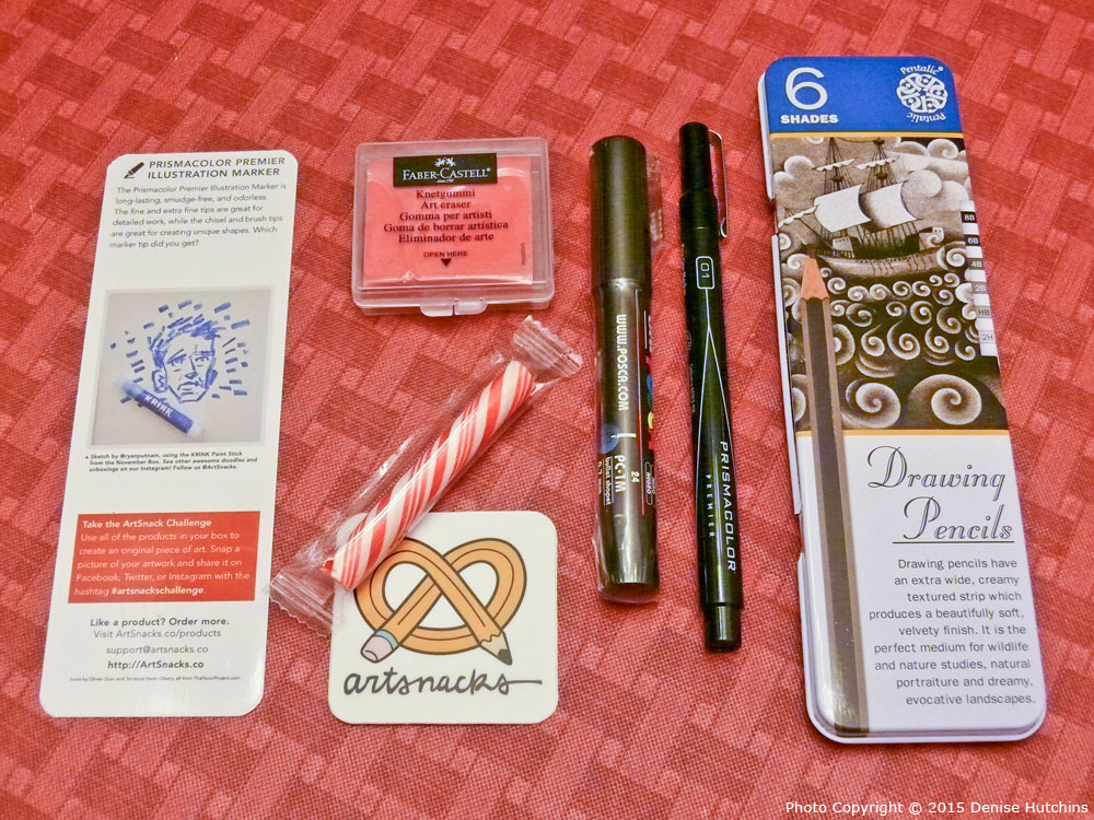 Contents of the December 2014 ArtSnacks Box Fully Revealed