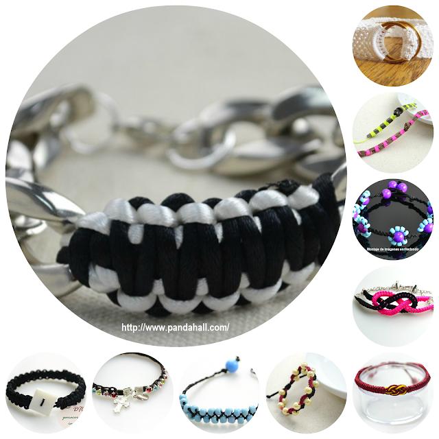 Como hacer 10 pulseras de macrame de moda enrhedando - Bisuteria para hacer en casa ...