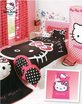 Desain Interior Kamar Tidur Anak Hello Kitty Kumpulan Desain