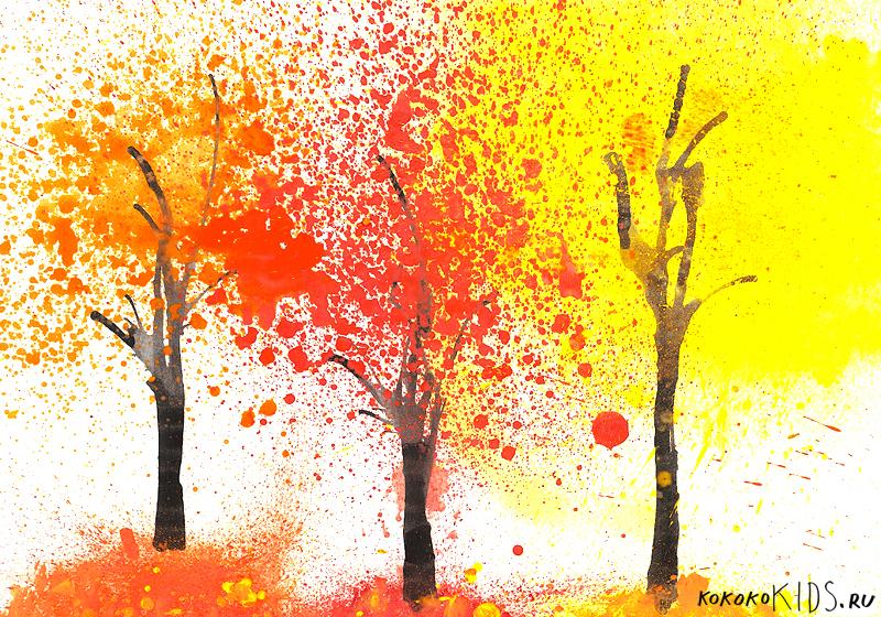 Поделки и рисунки из природного материала осень