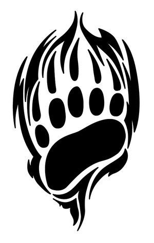 Tribal bear tattoos for Tribal claw tattoo