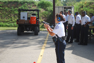 SHSU Alumna Officer Caitlin Gullo hit the streets of Conroe in November.