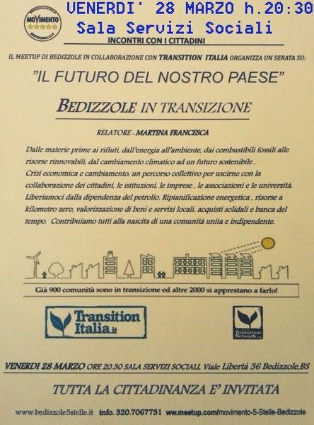Il futuro del nostro paese: Bedizzole in transizione