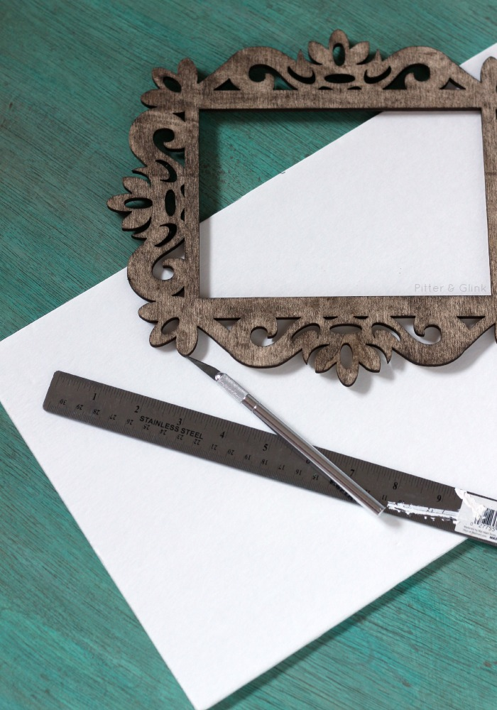 Use scrap foam board to act as the base of your art.  pitterandglink.com