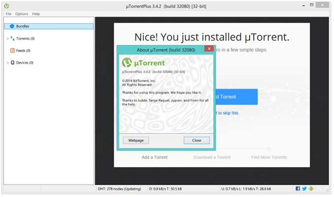 uTorrent Plus 3.4.2 Full