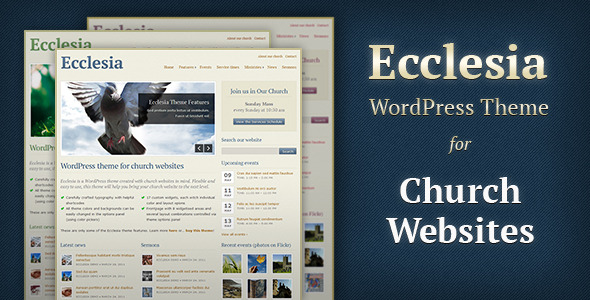Ecclesia - Church WordPress Theme Free Download by ThemeForest.