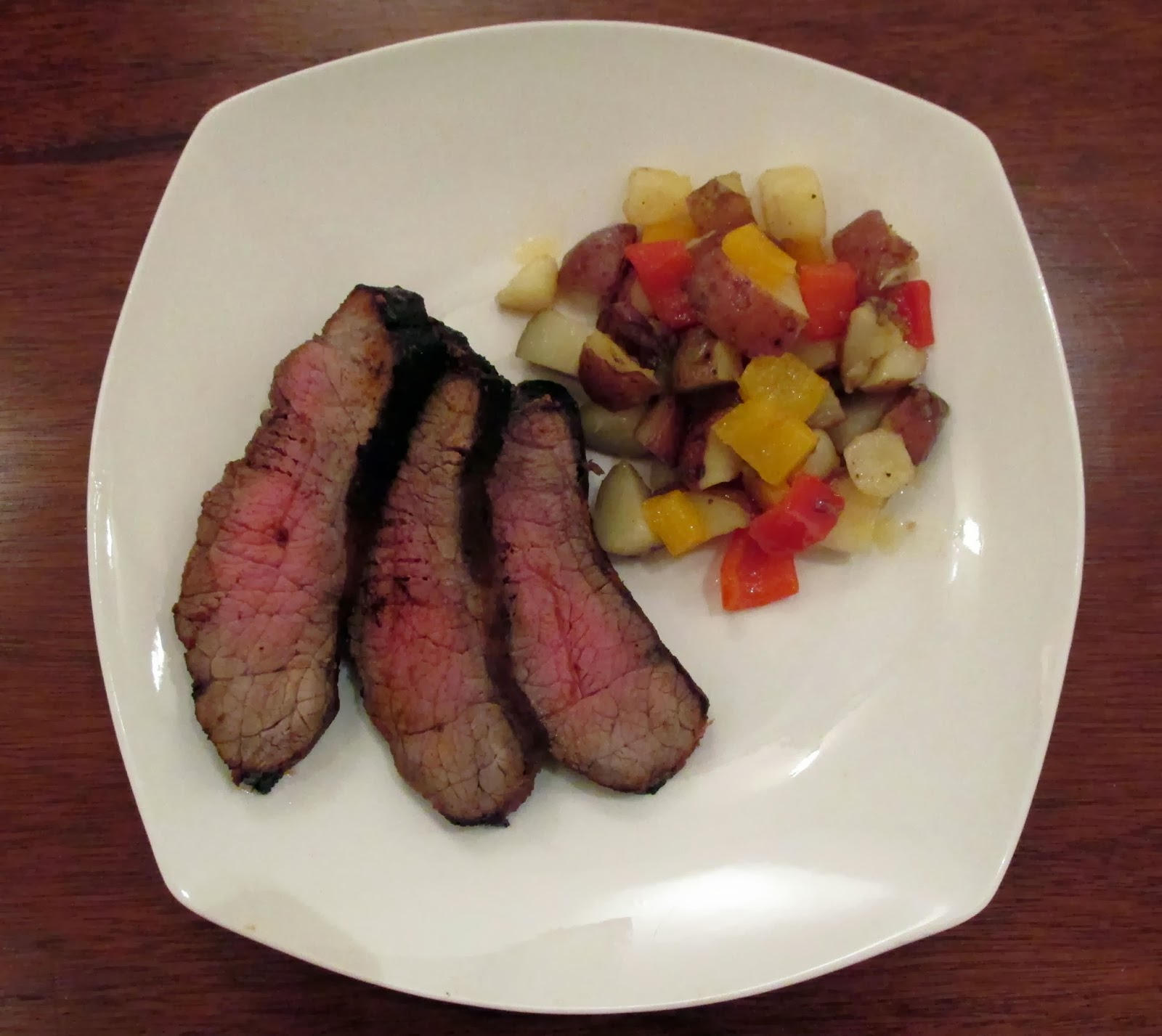 Away Game London Broil with Potatoes and Peppers | Stiller ...