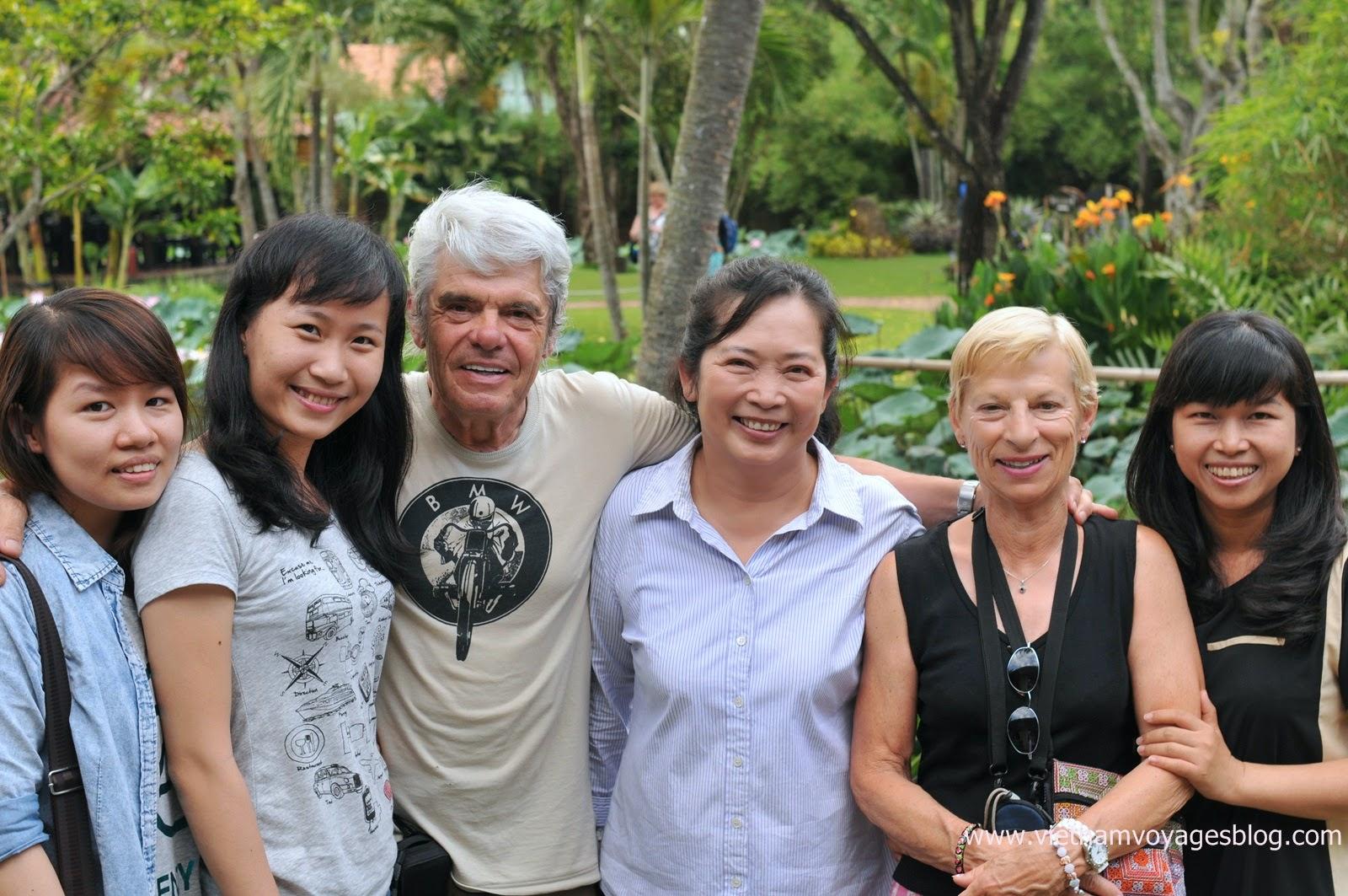 Groupe de Mr Gilles au delta du Mékong 2014 avec Vietventures Voyages